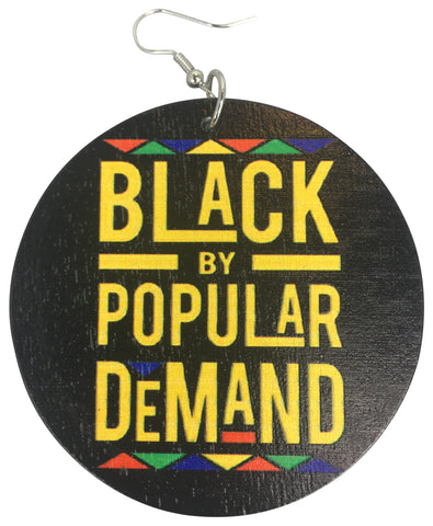 black by popular demand earrings afrocentric accessories natural hair jewelry jewellery gift idea african american urban unique pro black