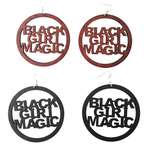 black girl magic earrings; black girl magic; afrocentric earrings; natural hair earrings; african american earrings; afro earrings; twa earrings; afrocentric fashion; afrocentric accessories;