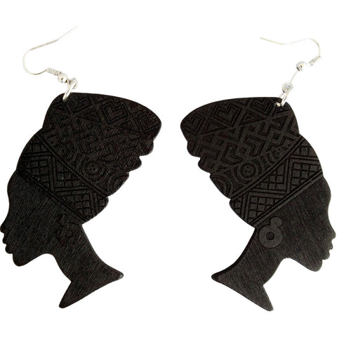 black queen nefertiti earrings | Afrocentric earrings | natural hair earrings