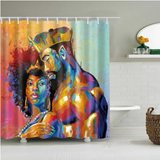 black power couple afrocentric home decor african shower curtains wall art and style pro black household items decorations american bedding cheap cute affordable feminine urban womens woman women ladies apartment home apt house ideas gift christmas kwanzaa birthday anniversary warming dorm help king queen love romantic sexy