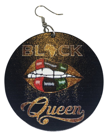 black queen earrings pan african natural hairstyles protective hair accessories jewelry jewellry ear rings fashion outfit ideas clothing afrocentric afro lips