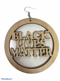 black lives matter earrings afrocentric jewelry pro black accessories african american ear candy jewellery accessory fashion idea cheap cute unique different minority owned woman round hoop wooden