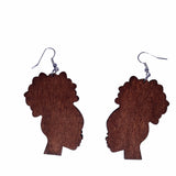 brown afro puff earrings | afro puff earrings | natural hair earrings | afrocentric earrings | afrocentric jewelry | afrocentric fashion | african earrings | afro puff