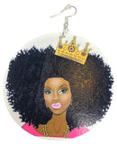 crown royale natural hair earrings afrocentric accessories afro centric jewelry accessory jewellery ethnic afro curly fro twa pride pro black