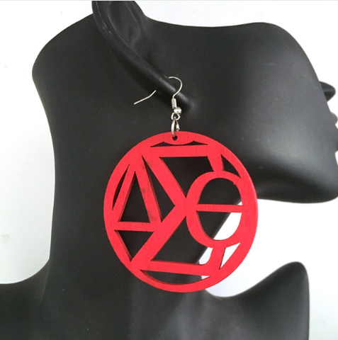 devastating earrings afrocentric natural hair delta sigma theta incorporated inc sorority dst accessories jewelry fashion outfit clothing decor crossing the burning sands gift idea
