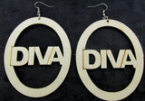 Diva earrings | Natural hair earrings | Afrocentric earrings | afrocentric fashion | afrocentric clothing | accessories | jewelry