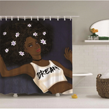 afrocentric home decor african shower curtains wall art and style pro black household items decorations american bedding cheap cute affordable feminine urban womens woman women ladies apartment home apt house ideas gift christmas kwanzaa birthday anniversary warming dorm help dream afro shirt natural curly hair