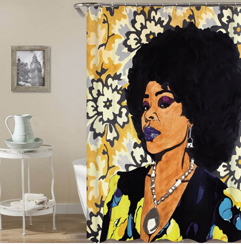 fierce shower curtain curtains afrocentric afro fro african american woman lady bathroom bath decor design idea ideas