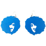 afro earrings natural hair wooden twa afrocentric centric accessories jewelry fashion clothing large puff