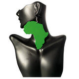 green map of africa earring