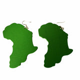 green map of africa earrings