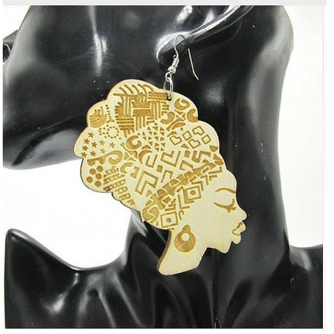 headwrap earrings | Afrocentric earrings | natural hair earrings