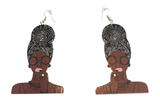 black headwrap mami earrings | head wrap mommy | natural hair earrings | headwrap | head wrap | afrocentric | jewelry | fashion | accessories | Agki Latest African Fashion, African Prints, African fashion styles, African clothing, Nigerian style, Ghanaian fashion, African women dresses, African Bags, African shoes, Nigerian fashion, Ankara, Aso okè, Kenté,