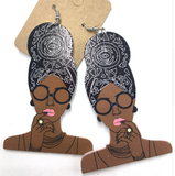headwrap mami | head wrap mommy | natural hair earrings | headwrap | head wrap | afrocentric | jewelry | fashion | accessories | Agki Latest African Fashion, African Prints, African fashion styles, African clothing, Nigerian style, Ghanaian fashion, African women dresses, African Bags, African shoes, Nigerian fashion, Ankara, Aso okè, Kenté,