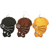 headwrap earrings; natural hair earrings; afrocentric earrings; afrocentric accessories; afro earrings; afro puff earrings;