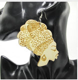 head wrap earrings | natural hair earrings | afrocentric earrings | afro earrings | Africa earrings