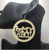 i love my hbcu earrings | natural hair earrings | afrocentric earrings | hbcu jewelry | hbcu accessories | hbcu | north carolina central university accessories | aka earrings | dst earrings | aka fashion