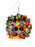 afro earrings natural hair jewelry afrocentric accessories fashion outfit idea clothing tutorial 4b 4c ear candy whimsical urban trendy unique kaleidoscope