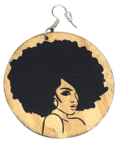keisha afro earrings natural hair jewelry afrocentric accessories fro ear ring