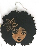 kima earrings natural hair afrocentric jewelry ear rings accessories fashion accessory clothing gift idea african american afro curly