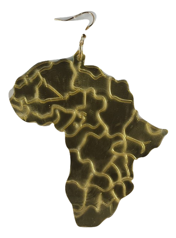 large gold mirror map of africa earrings african fashion gold twa earrings ear rings afro afrocentric accessory jewelry