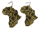 large gold mirror map of africa earrings