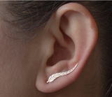 gold earrings silver leaf ear ring leaves