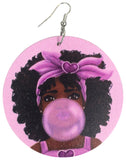 leikeli bubble gum earrings chew pon ya bubba natural hair accessories afrocentric jewelry afro accessories jewellery accessory fashion gift outfit idea kwanzaa birthday christmas