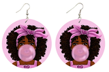 bubble gum earrings chew pon ya bubba natural hair accessories afrocentric jewelry afro accessories jewellery accessory fashion gift outfit idea kwanzaa birthday christmas leikeli