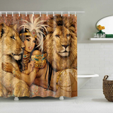 lion queen afrocentric home decor african shower curtains wall art and style pro black household items decorations american bedding cheap cute affordable feminine urban womens woman women ladies apartment home apt house ideas gift christmas kwanzaa birthday anniversary warming dorm help
