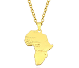 gold africa pendant necklace map shaped jewelry accessories fashion outfit gift idea continent mens women men ladies unisex kids children girls female male african