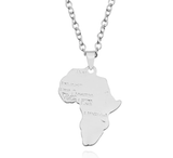 Africa Necklace - Gold or Silver | Africa shaped Jewelry & Accessories