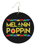 Melanin Poppin Earrings | Afrocentric Accessories | Natural Hair Jewelry