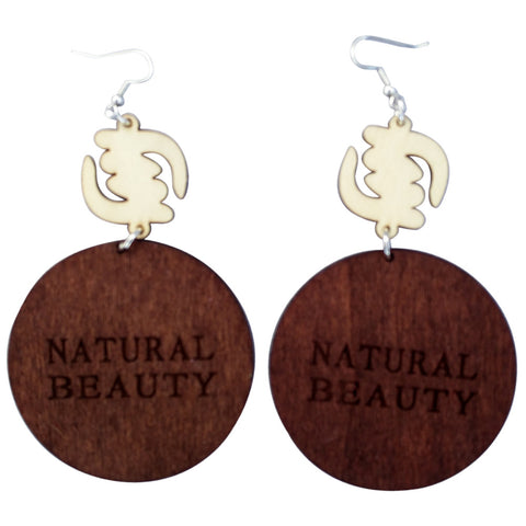 natural beauty earrings | natural hair earrings | afrocentric earrings | afrocentric | afrocentric fashion | afrocentric jewelry | wooden earrings