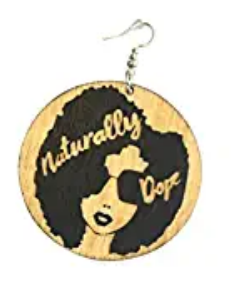 naturally dope earrings afro jewelry afrocentric accessories fashion outfit idea twa jewellery cheap cute affordable womens wooden urban hip hop gift idea christmas kwanzaa pro black kwaanza birthday anniversary ethnic earring