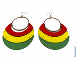 pan african earrings red green yellow gift idea afrocentric accessories jewelry jewellery africa american urban cheap cute unique gift idea fashion outfit clothing accessory kwanzaa christmas