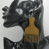 picked out earrings afro pick pic fashion jewelry accessories natural hair twa fro