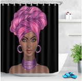purple headwrap afrocentric home decor african shower curtains wall art and style pro black household items decorations american bedding cheap cute affordable feminine urban womens woman women ladies apartment home apt house ideas gift christmas kwanzaa birthday anniversary warming dorm help turban head wrap
