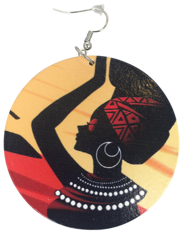 nubian queen earrings afrocentric ear rings jewelry accessories fashion outfit gift idea african american black girl jewelry