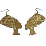 light brown queen nefertiti earrings | Afrocentric earrings | natural hair earrings