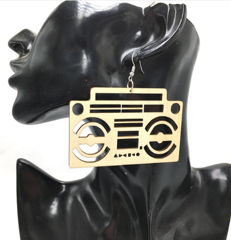 radio earrings | boombox earrings | radio raheem earrings | music earrings | afrocentric earrings | jewelry | accessories | fashion