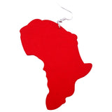 red map of africa earring