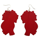 red afro puff earrings | afro puff earrings | natural hair earrings | afrocentric earrings | afrocentric jewelry | afrocentric fashion | african earrings | afro puff