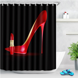 red heels and lipstick afrocentric home decor african shower curtains wall art and style pro black household items decorations american bedding cheap cute affordable feminine urban womens woman women ladies apartment home apt house ideas gift christmas kwanzaa birthday anniversary warming dorm help heel lips lip stick