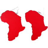 red map of africa earrings