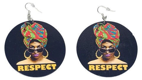 respect earrings Afrocentric | Fashion accessories| Fashion accessories for the black woman| Jewelry | fashion afrocentric afro ethnic natural hair ear ring earring nubian jewelry  accessories head wrap headwrap turban pro black