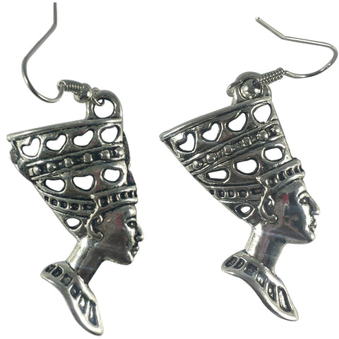 silver nefertiti earrings | Queen Nefertiti | Egypt Earrings | Egyptian earrings | Nefertiti Bust | Egypt Queen