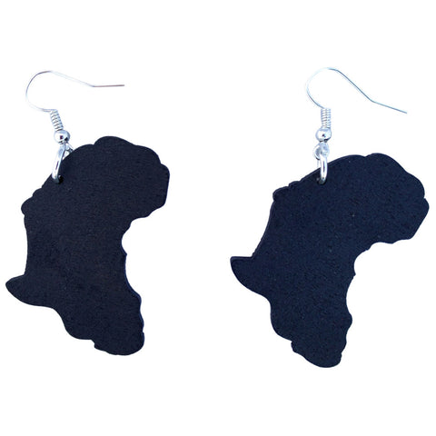 Africa earrings | africa earrings | africa shaped earrings | map of africa earrings | natural hair earrings | afrocentric earrings
