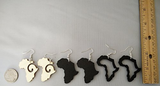 Africa earrings | africa earrings | africa shaped earrings | map of africa earrings | natural hair earrings | afrocentric earrings afro african map natural hair black jewelry natural accessories map of africa medium size earrings