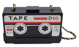 tape purse mixtape recorder stereo music lover wallet clutch hand bag handbag pocketbook pocket book womens woman lady ladies girls girl female gift idea fashionista unique hand bag handbag stereo